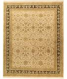 RugStudio presents Due Process Jagapatti Sultanabad Ivory-Black Hand-Knotted, Best Quality Area Rug