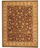 RugStudio presents Due Process Jagapatti Yezd Brown-Cream Hand-Knotted, Best Quality Area Rug