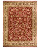 RugStudio presents Due Process Jagapatti Yezd Tomato-Cream Hand-Knotted, Best Quality Area Rug