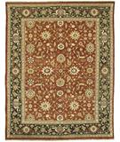 RugStudio presents Rugstudio Sample Sale 28237R Red-Dark Green Hand-Knotted, Best Quality Area Rug
