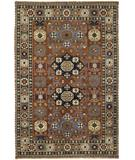 RugStudio presents Rugstudio Sample Sale 28257R Red-Navy Hand-Knotted, Best Quality Area Rug