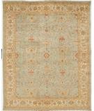 RugStudio presents Rugstudio Sample Sale 28262R Seafoam-Ivory Hand-Knotted, Best Quality Area Rug
