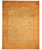 RugStudio presents Due Process Kalasha Tabriz Soft Blue-Gold Hand-Knotted, Best Quality Area Rug