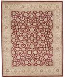 RugStudio presents Due Process Kashmir Isphahan Red-Gold Hand-Knotted, Best Quality Area Rug