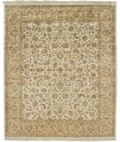 RugStudio presents Due Process Kashmir Kashan Beige-Gold Hand-Knotted, Best Quality Area Rug