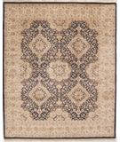 RugStudio presents Due Process Kashmir Kirman Black-Light Gold Hand-Knotted, Best Quality Area Rug