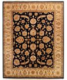 RugStudio presents Due Process Kendra Mahal Black-Sage Hand-Knotted, Best Quality Area Rug