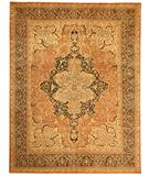 RugStudio presents Rugstudio Sample Sale 28296R Salmon-Blue Hand-Knotted, Best Quality Area Rug