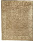 RugStudio presents Due Process Khyber Flora Beige-Cream Hand-Knotted, Best Quality Area Rug