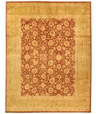 RugStudio presents Due Process Khyber Isphahan Rust-Gold Hand-Knotted, Best Quality Area Rug