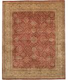 RugStudio presents Due Process Khyber Joshegan Brick-Cream Hand-Knotted, Best Quality Area Rug