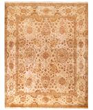 RugStudio presents Due Process Khyber Kirman Cream Hand-Knotted, Best Quality Area Rug