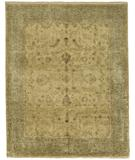 RugStudio presents Due Process Khyber Lilihan Cream-Light Blue Hand-Knotted, Best Quality Area Rug