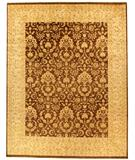 RugStudio presents Due Process Khyber Meshed Brown-Cream Hand-Knotted, Best Quality Area Rug