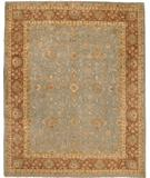 RugStudio presents Due Process Khyber Polonaise Light Blue-Brown Hand-Knotted, Best Quality Area Rug