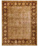 RugStudio presents Due Process Khyber Tabriz Cream-Walnut Hand-Knotted, Best Quality Area Rug