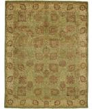 RugStudio presents Due Process Khyber Vase Pistachio-Ivory Hand-Knotted, Best Quality Area Rug