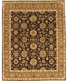 RugStudio presents Due Process Mirzapur Agra Brown-Gold Hand-Knotted, Best Quality Area Rug