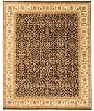 RugStudio presents Due Process Mirzapur Bakhtiari Brown-Cream Hand-Knotted, Best Quality Area Rug