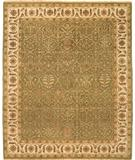 RugStudio presents Due Process Mirzapur Bakhtiari Light Green-Cream Hand-Knotted, Best Quality Area Rug