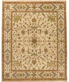 RugStudio presents Due Process Mirzapur Herati Cream Hand-Knotted, Best Quality Area Rug