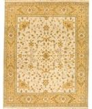 RugStudio presents Due Process Mirzapur Herati Ivory-Gold Hand-Knotted, Best Quality Area Rug