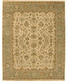 RugStudio presents Due Process Mirzapur Mahal Beige-Light Green Hand-Knotted, Best Quality Area Rug