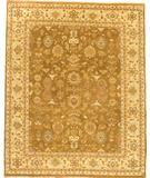 RugStudio presents Due Process Mirzapur Mahal Carmel-Gold Hand-Knotted, Best Quality Area Rug