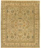 RugStudio presents Due Process Mirzapur Mahal Opal-Cream Hand-Knotted, Best Quality Area Rug
