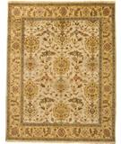 RugStudio presents Due Process Mirzapur Shield Ivory-Gold Hand-Knotted, Best Quality Area Rug