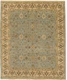 RugStudio presents Due Process Mirzapur Yezd Light Blue-Beige Hand-Knotted, Best Quality Area Rug