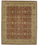 RugStudio presents Due Process Mirzapur Yezd Red-Ivory Hand-Knotted, Best Quality Area Rug