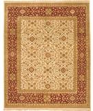 RugStudio presents Due Process Mirzapur Ziegler Ivory-Brick Hand-Knotted, Best Quality Area Rug