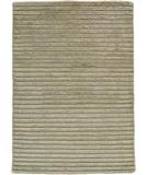 RugStudio presents Due Process Nouveau Dual Stripe Silver Hand-Knotted, Best Quality Area Rug