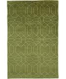 RugStudio presents Due Process Nouveau Honey Comb Olive Hand-Knotted, Best Quality Area Rug