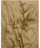 RugStudio presents Due Process Nouveau Bamboo Brown Hand-Knotted, Good Quality Area Rug
