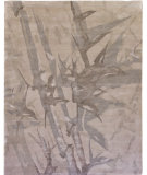 RugStudio presents Due Process Nouveau Bamboo Grey Hand-Knotted, Good Quality Area Rug