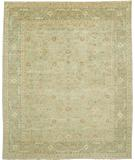 RugStudio presents Due Process Peshawar Distressed Hamadan Grey-Aqua Hand-Knotted, Best Quality Area Rug