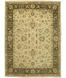 RugStudio presents Due Process Peshawar Kashan Cream-Brown Hand-Knotted, Best Quality Area Rug