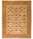 RugStudio presents Due Process Peshawar Lahore Ivory-Gold Hand-Knotted, Best Quality Area Rug