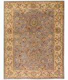 RugStudio presents Due Process Peshawar Mahal Grey-Cream Hand-Knotted, Best Quality Area Rug
