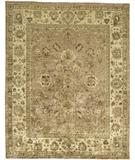 RugStudio presents Due Process Peshawar Mogul Rose-Cream Hand-Knotted, Best Quality Area Rug
