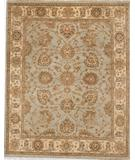 RugStudio presents Due Process Peshawar Quetta Light Blue-Cream Hand-Knotted, Best Quality Area Rug