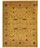 RugStudio presents Due Process Peshawar Tabriz Cream-Beige Hand-Knotted, Best Quality Area Rug