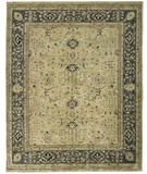 RugStudio presents Due Process Peshawar Ziegler Cream-Soft Blue Hand-Knotted, Best Quality Area Rug