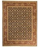 RugStudio presents Due Process Qingdoa Herati Navy-Red Hand-Knotted, Best Quality Area Rug