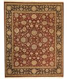 RugStudio presents Due Process Qingdoa Kashan Red-Navy Hand-Knotted, Best Quality Area Rug