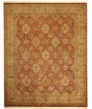 RugStudio presents Due Process Shalimar Vase Berry-Ivory Hand-Knotted, Best Quality Area Rug