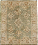 RugStudio presents Due Process SuperShine Mahal Green/Beige Hand-Knotted, Best Quality Area Rug