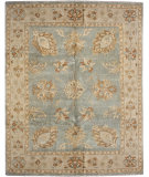 RugStudio presents Due Process SuperShine Oushak Aqua/Beige Hand-Knotted, Best Quality Area Rug